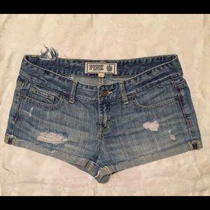 Victoria's Secret PINK Denim Shorts Sz 2 (30)